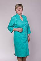 Медицинский женский халат больших размеров 2115 ( батист 44-66 р-р )