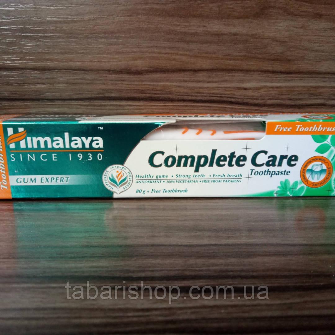 Зубная паста Комплексный уход, Complete Care Toothpaste Himalaya Herbals + зубная щётка, 80г