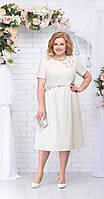 Платье Ninele-7232 белорусский трикотаж, беж, 56
