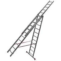 Лестница универсальная раздвижная Sadko 3x11