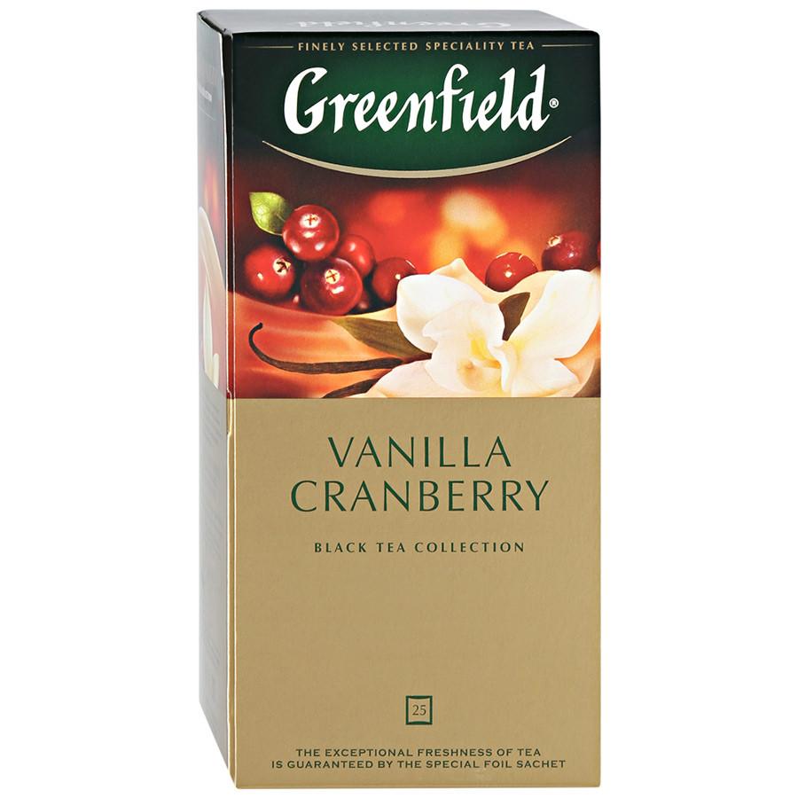 Чай черный с клюквой Greenfield Vanilla Cranberry 25 пак.