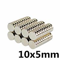 Магниты неодимовые сильные 10x5 мм N35 (10шт)