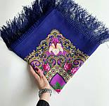 Сказки летней ночи 1862-14, павлопосадский платок шерстяной с шелковой бахромой, фото 6