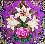 Сказки летней ночи 1862-14, павлопосадский платок шерстяной с шелковой бахромой, фото 3