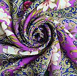 Сказки летней ночи 1862-14, павлопосадский платок шерстяной с шелковой бахромой, фото 4