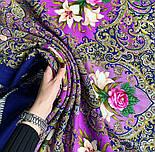 Сказки летней ночи 1862-14, павлопосадский платок шерстяной с шелковой бахромой, фото 7