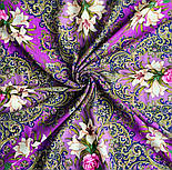 Сказки летней ночи 1862-14, павлопосадский платок шерстяной с шелковой бахромой, фото 5