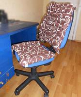 Офисный комплект (набор: сиденье + спинка), тк.Голд (с гречневой шелухой)