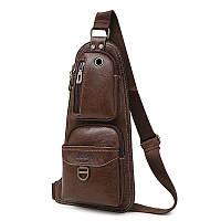 Сумка-рюкзак на одно плечо, кобура, слинг Jeep 1941. Темно-коричневая / J1941 DB