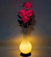 Ночник Букет роз с LED-подсветкой LP-06 (розовые розы). Светящиеся цветы