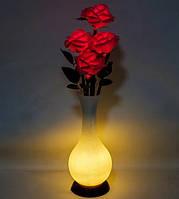Ночник Букет роз с LED-подсветкой LP-04 (красные розы). Светящиеся цветы