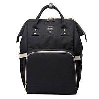 Сумка-рюкзак для мам LeQueen. Черный