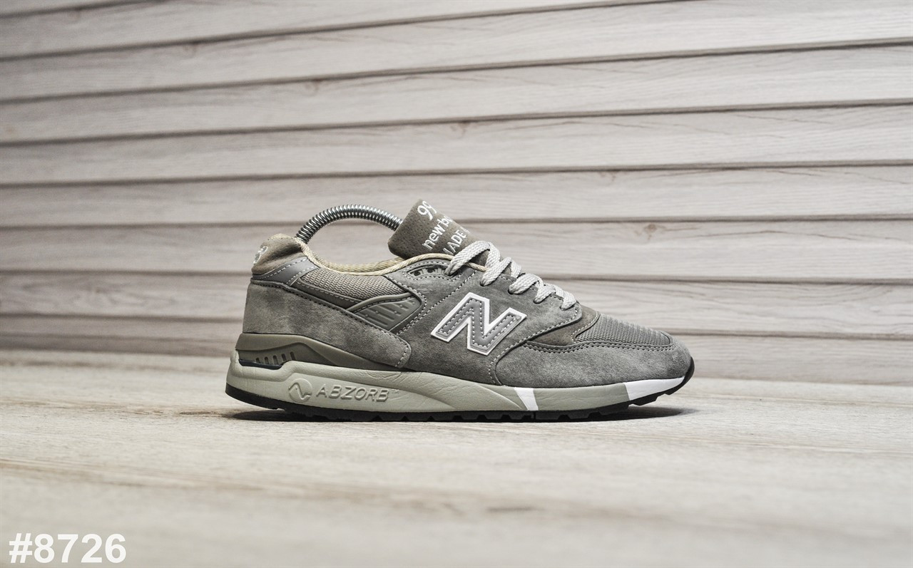 Мужские кроссовки New Balance 998 Bringback. Натуральная замша. Подошва ABZORB
