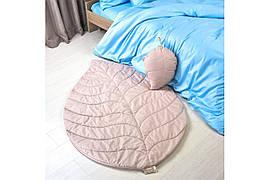 Стеганый коврик и подушка: Набор Листочек бежевый