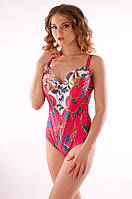 Сдельный женский купальник с цветами Magistral AM 266 48D Малиновый Magistral  AM 266