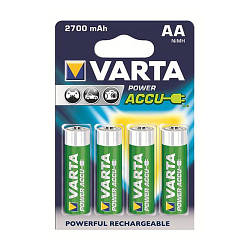 Аккумуляторы Varta Rechargeable Ni-Mh AA 2700 mAh - (4шт.)