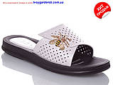Женские белые шикарные шлепанцы  р36-41(код 8657-00), фото 2
