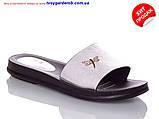 Женские белые шикарные шлепанцы  р36-41(код 8657-00), фото 3