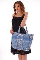 02b2e178ba79 Голубая пляжная сумка с кружевом Iconique IC7 065 One Size Голубой Iconique  IC7 065
