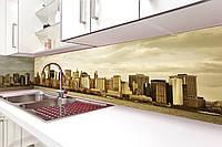 Кухонный фартук Сити (Город) (стеновая панель для кухни, полноцветная фотопечать, пленка для фартука) 650х2500 мм
