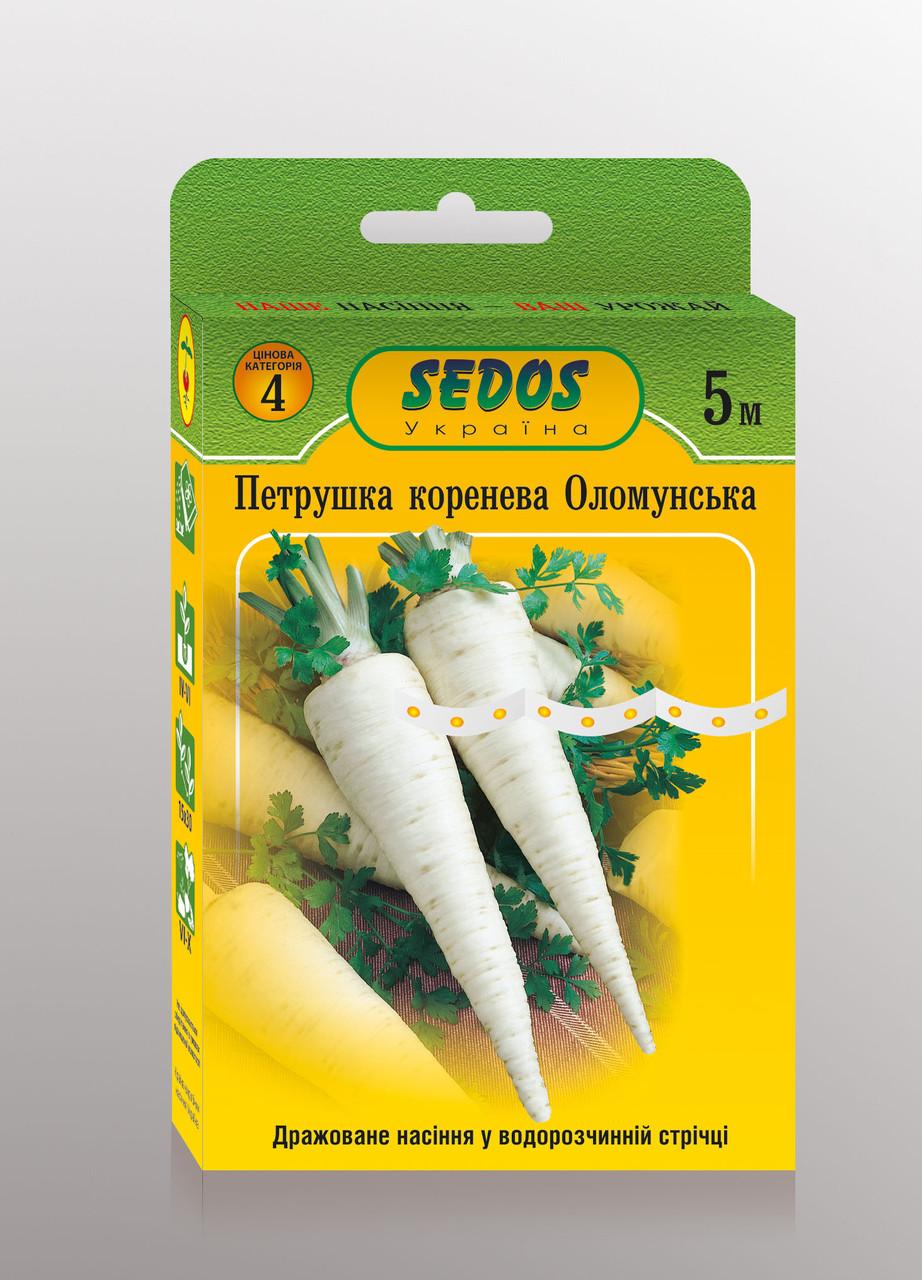 Семена петрушка корневая Оломунская на ленте