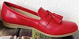 Супер Лоферы!  Весна Лето 2020! Натуральная мягкая кожа туфли женские Loafer красные, фото 3