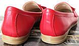 Супер Лоферы!  Весна Лето 2020! Натуральная мягкая кожа туфли женские Loafer красные, фото 4