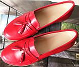 Супер Лоферы!  Весна Лето 2020! Натуральная мягкая кожа туфли женские Loafer красные, фото 6