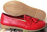 Супер Лоферы!  Весна Лето 2020! Натуральная мягкая кожа туфли женские Loafer красные, фото 10