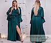Платье вечернее длинное шелк/софт 48-50,52-54, фото 4