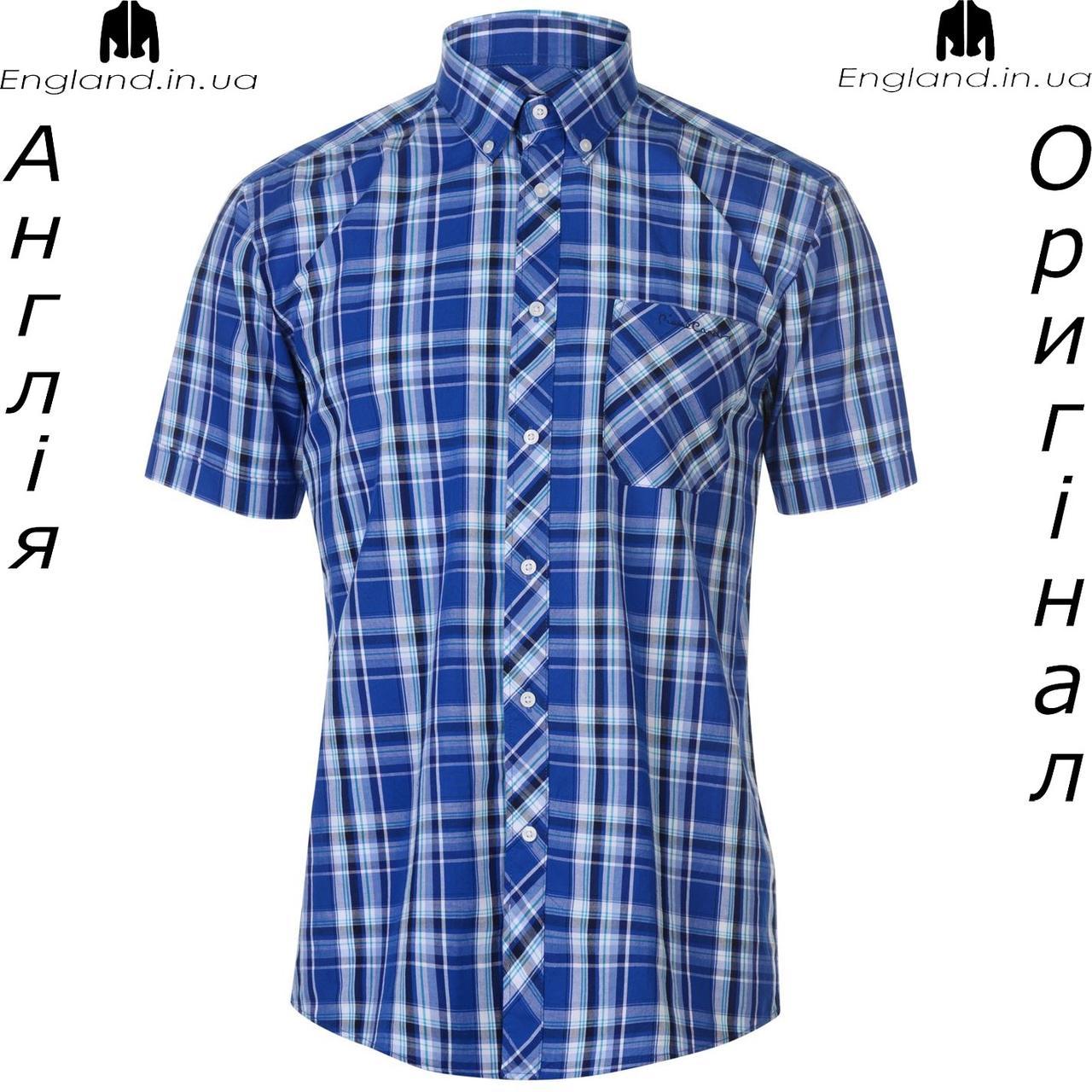 3777a4f273798e5 Рубашка в клетку мужская Pierre Cardin из Англии - на короткий рукав -  Интернет-магазин