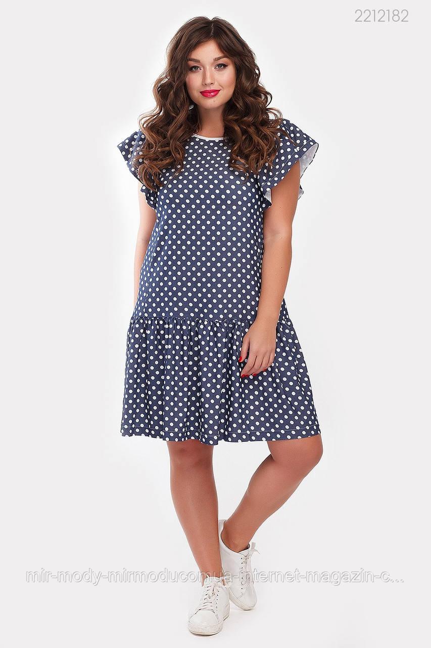 Платье Терни - 1 джинс (синий) (2 цвета) с  48 по 54 размер (рин)