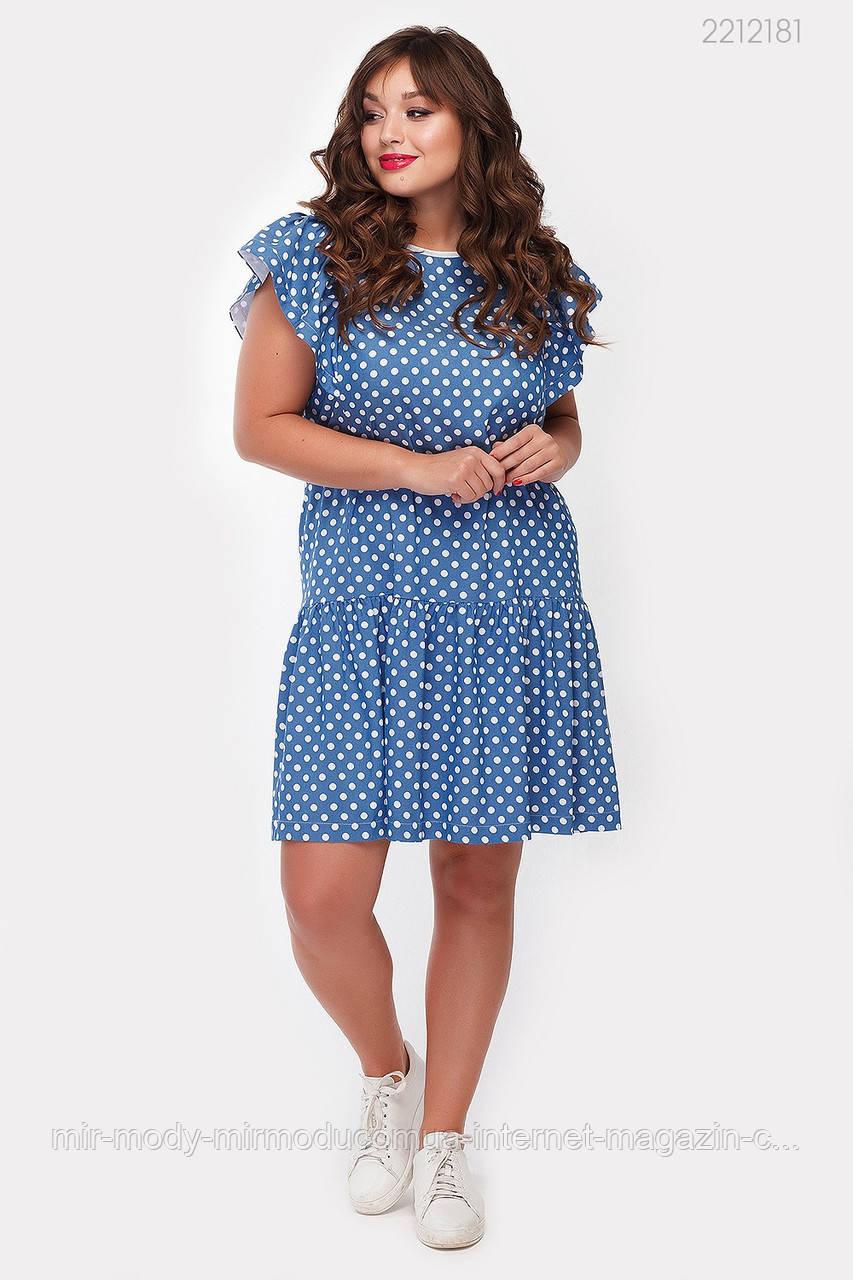 Платье Терни - 1 джинс (голубой) (2 цвета) с  48 по 54 размер (рин)
