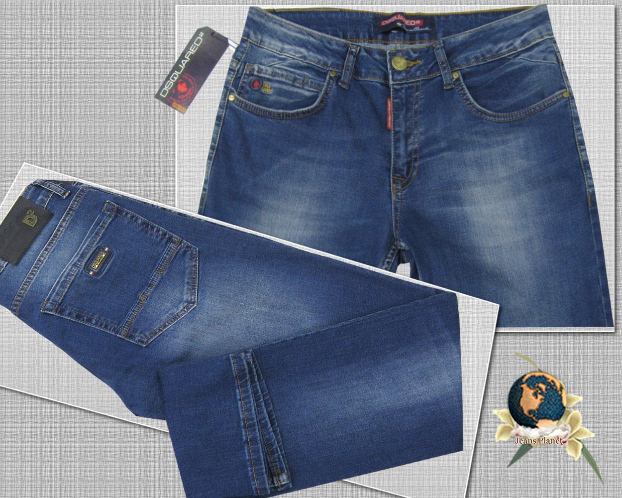 Джинсы мужские зауженные бренд Dsquared2 размер 34 весна-лето