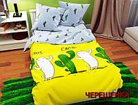 """Двуспальный набор постельного белья 180*220 из Бязи """"Gold"""" №157263AB Черешенка™"""