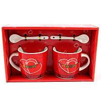 Подарочный набор из 2х чашек и ложек Love - 132017