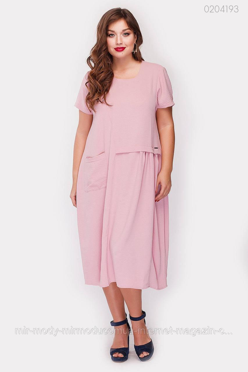 Платье Картиньи (фрезовый)  (3 цвета) с 48 по 56 размер  (рин)
