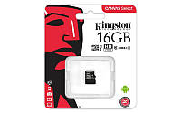 Карта памяти MicroSDHC 16GB Kingston Canvas Select Class 10 UHS-I без адаптера SD