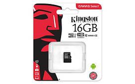 Карта памяти MicroSDHC 16GB Kingston Canvas Select Class 10 UHS-I без адаптера SD
