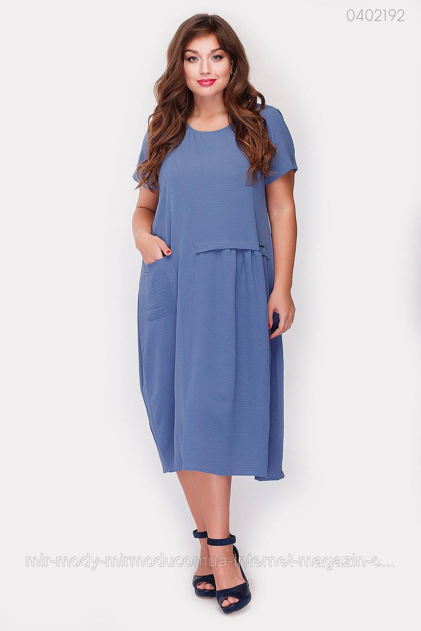 Платье Картиньи (джинс)  (3 цвета) с 48 по 56 размер  (рин)