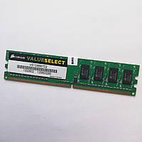 Оперативная память Corsair Value Select DDR2 1Gb 667MHz PC2 1R8 5300U CL5 (VS1GB667D2) Б/У