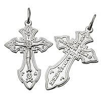 Серебряный крестик - 140250