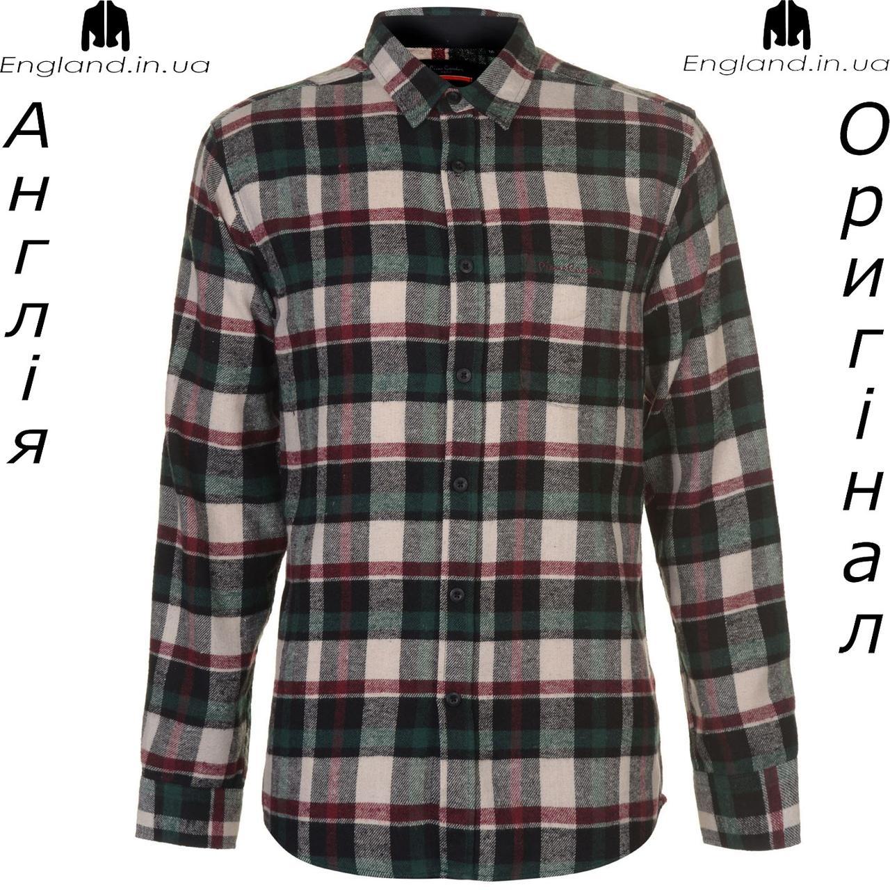 12d95be8a9dc1da Рубашка в клетку мужская Pierre Cardin из Англии - на длинный рукав -  Интернет-магазин