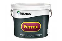 Антикорозійна фарба для металу Teknos Ferrex, Сірий, 3 л