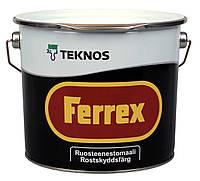 Антикорозійна фарба для металу Teknos Ferrex, Сірий, 10 л