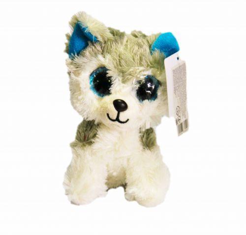 Мягкая игрушка Глазастик С 33959 Собака-серая