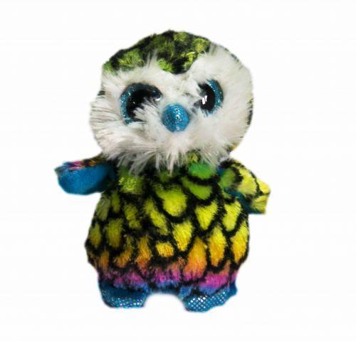 Мягкая игрушка Глазастик С 33959 Сова-цветная