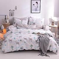 Двуспальный евро комплект постельного белья Альпака Berni