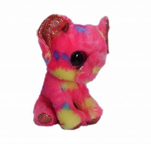 Мягкая игрушка Глазастик С 33959 Слон-малиновый