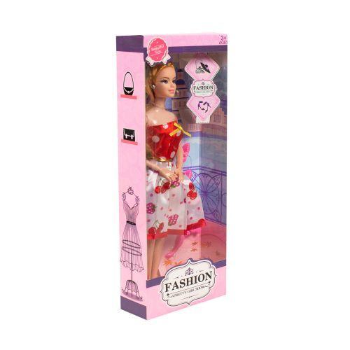 Кукла 1297 блондинка «Fashion», в платье с ягодками